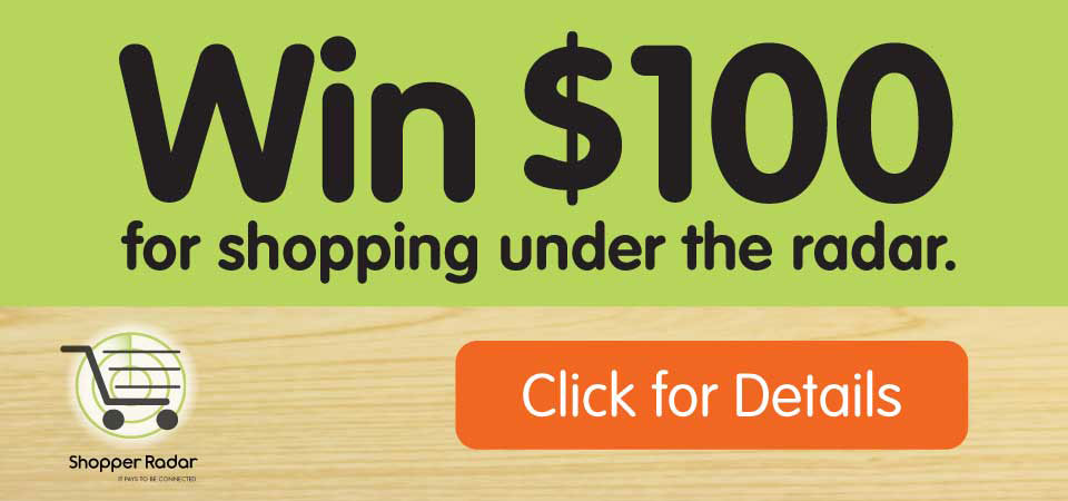 Win $100 for Shopping Under the Radar