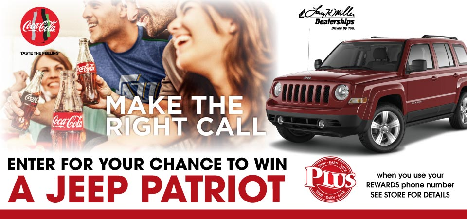 Enter for a chance to win a Jeep Patriot