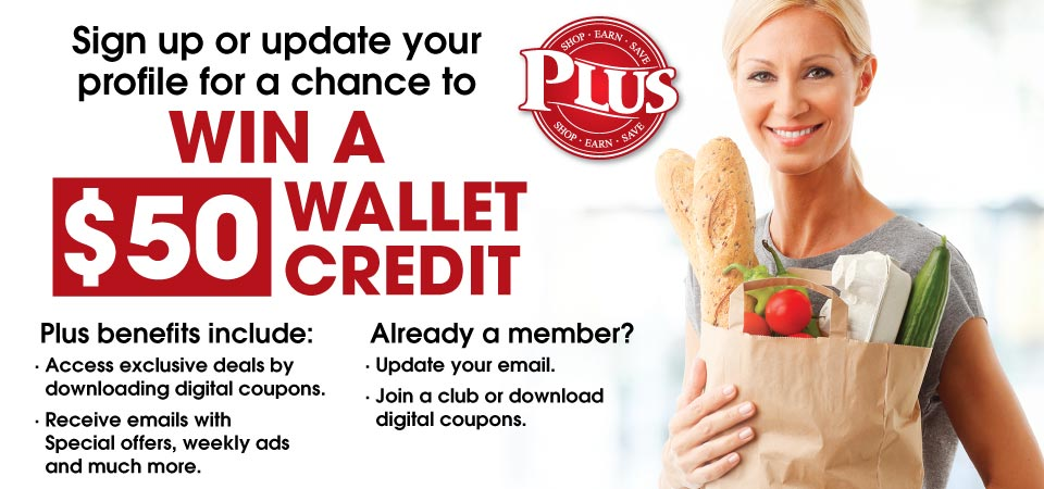 Enter to Win a $50 Wallet Credit!