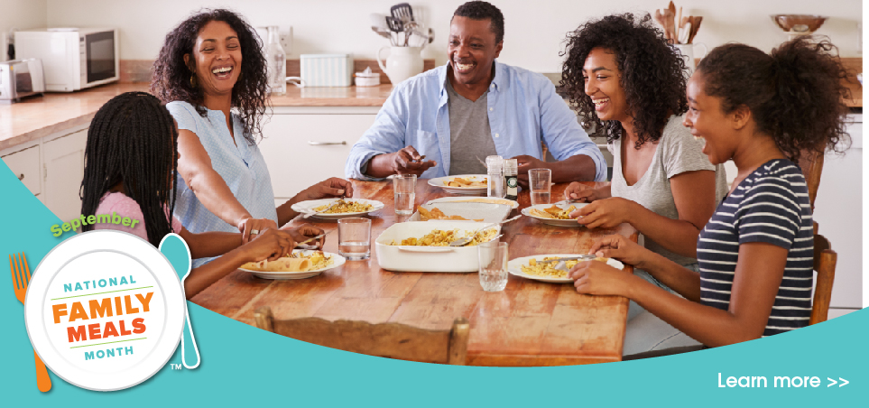 It's National Family Meals Month