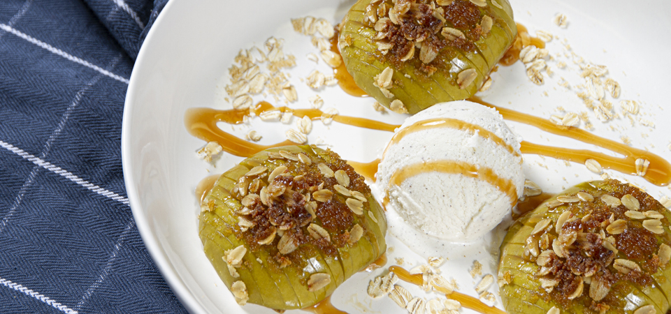 Hasselback Apple Crisp