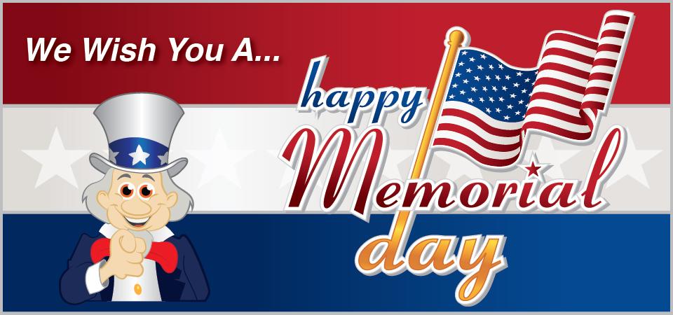 Have a happy Memorial Day!