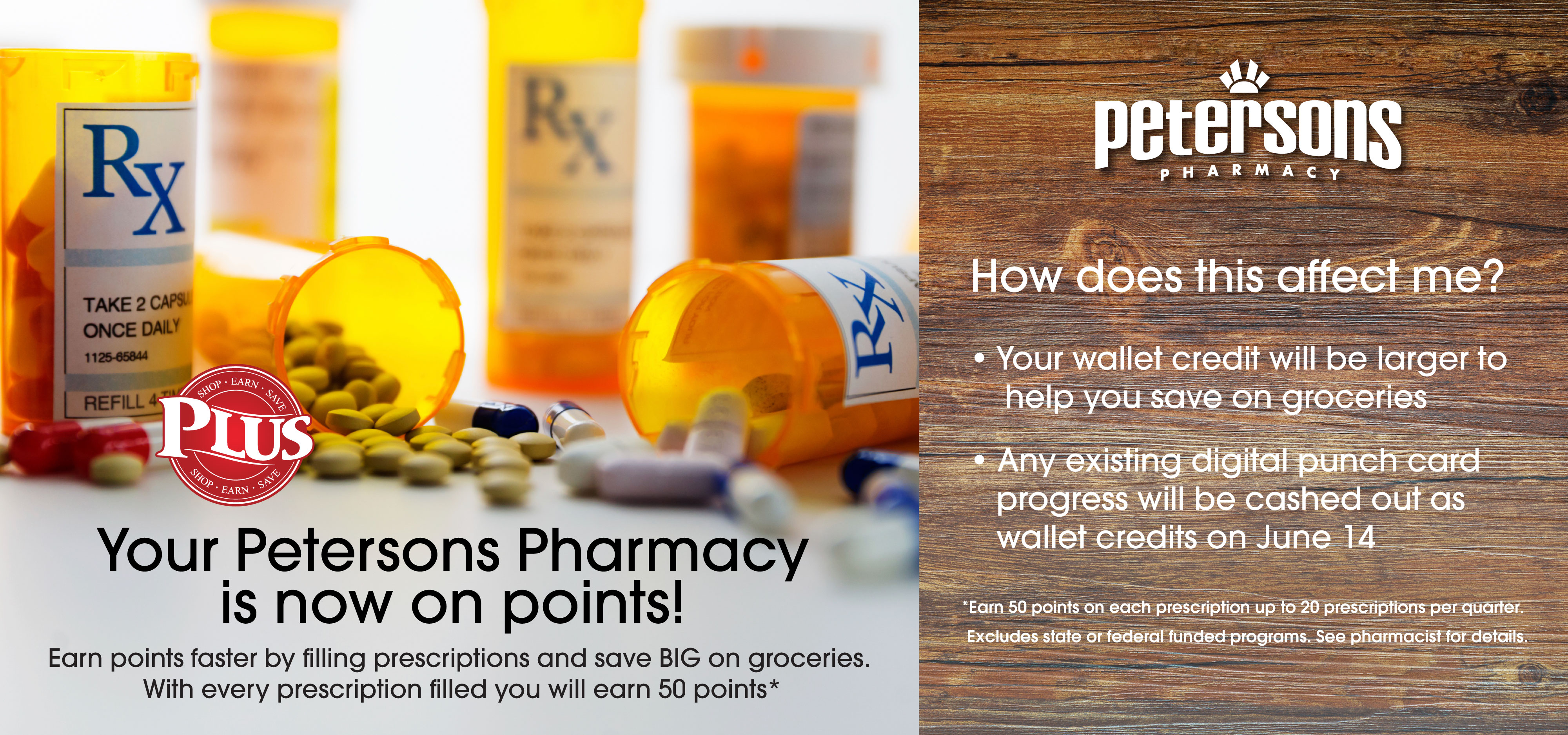 Peterson's Pharmacy is now on points!