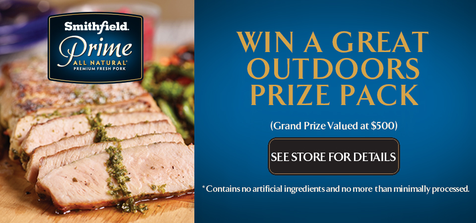 With a Great Outdoors Prize Package