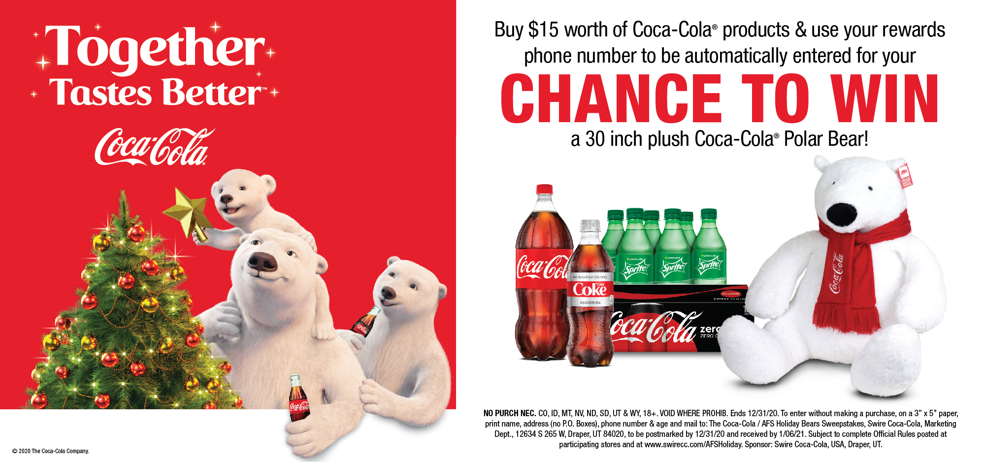 Enter to win a Coke Bear!