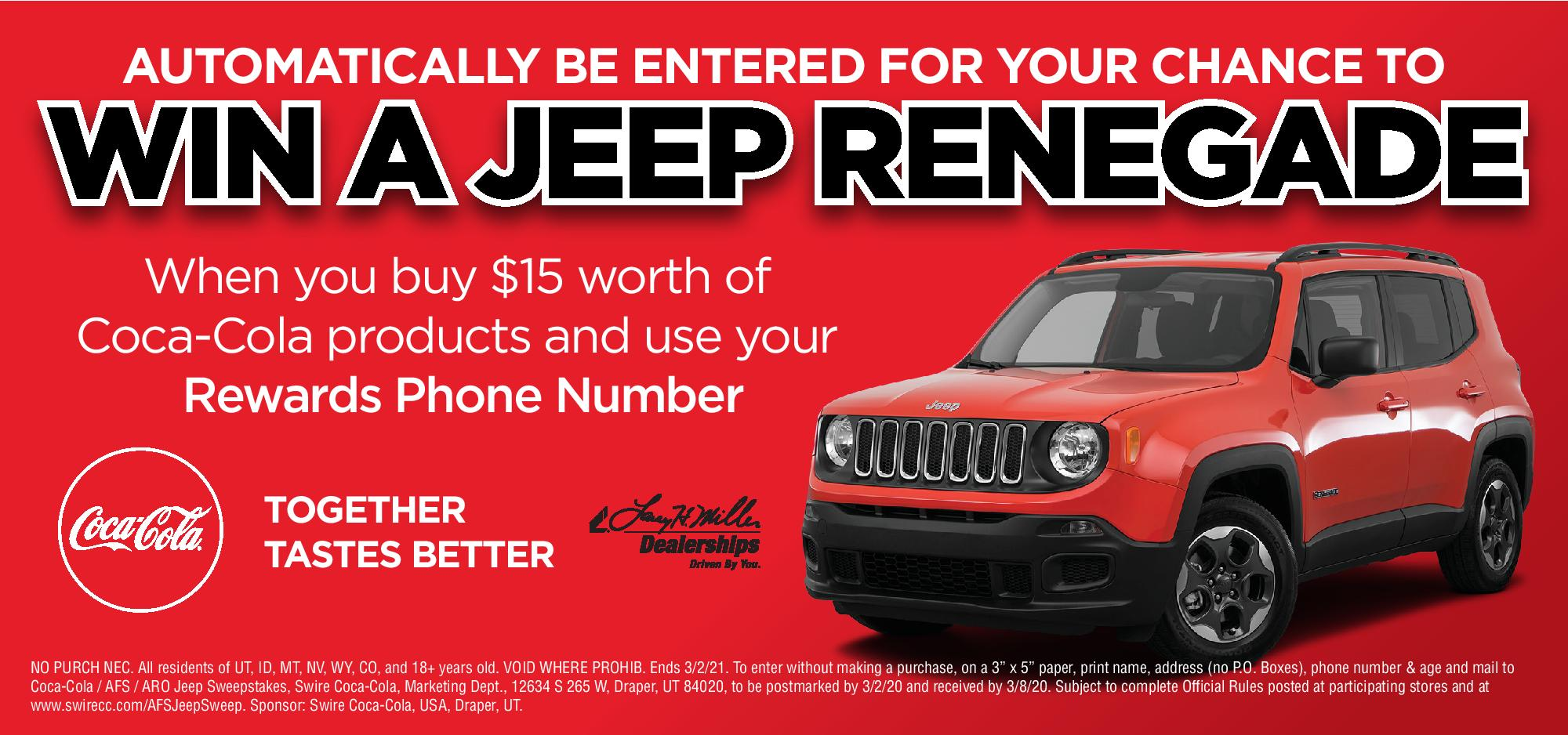 Enter to win a Jeep Renegade!