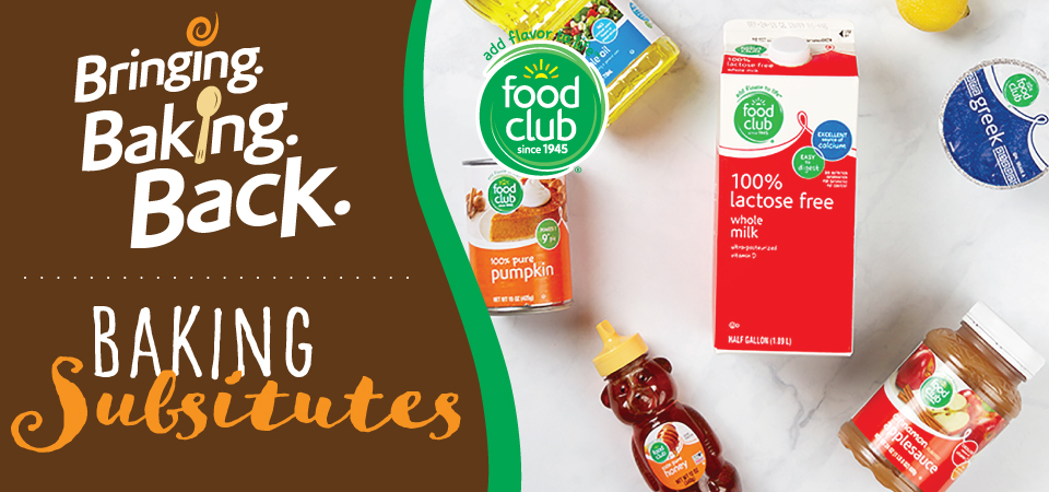 Food Club Baking Substitutes