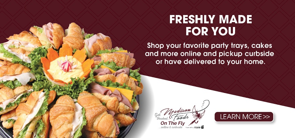 Shop Freshly Made Party Trays, Cakes, and more online!