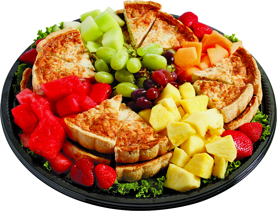 Fruit And Quiche Tray