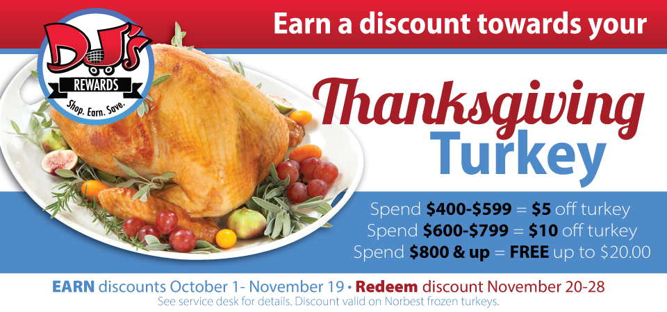 Save on your Thanksgiving Turkey