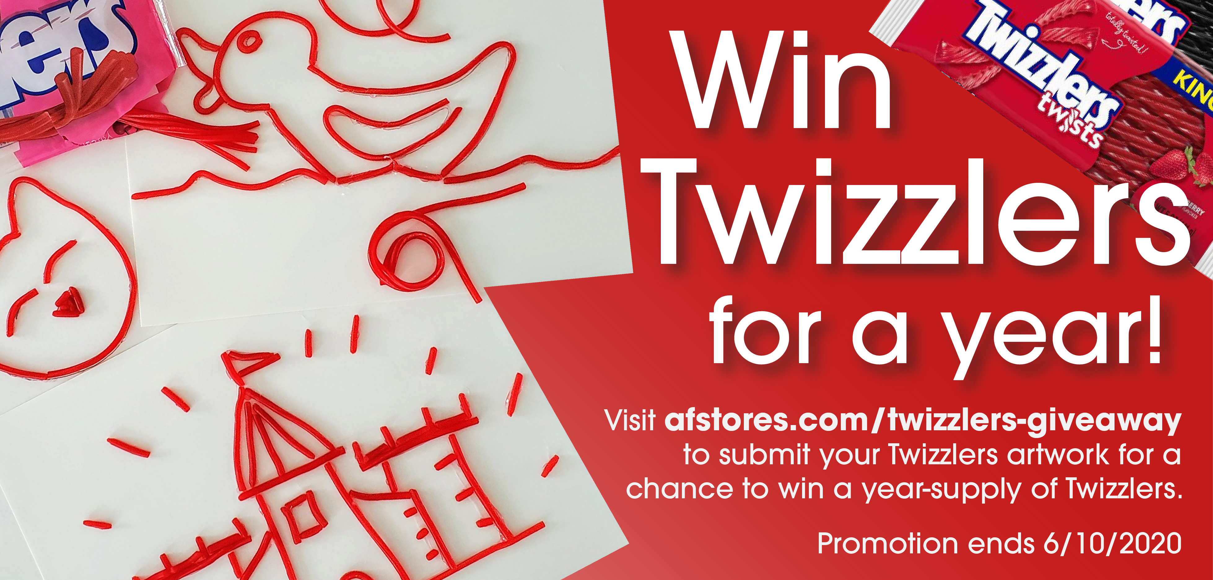 Enter to win a Year Supply of Twizzlers!