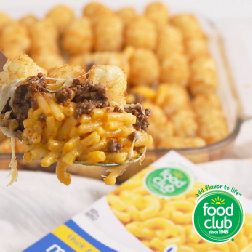 Mac & Cheese Tator Tot Casserole