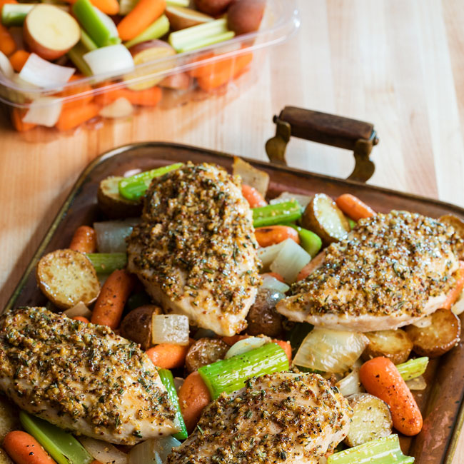 One Pan Chicken Veggies