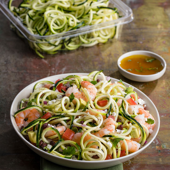 Sante Fe Zoodle Shrimp Salad
