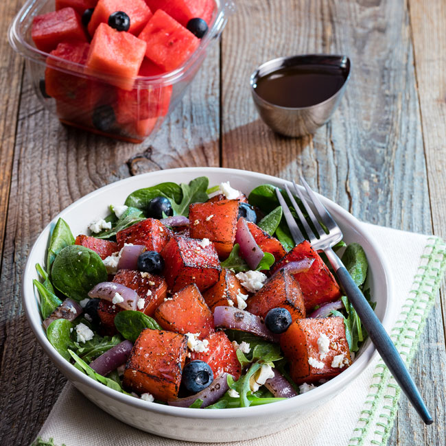 Broiled Watermelon Salad