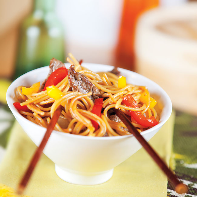 Sesame-Ginger Beef Lo Mein