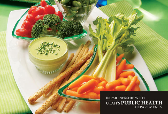 Green Onion Dip with Fresh Veggies